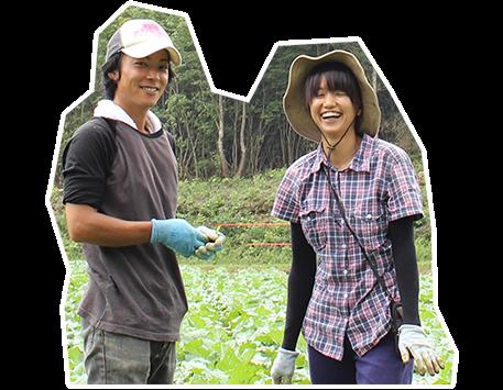 就農者の写真